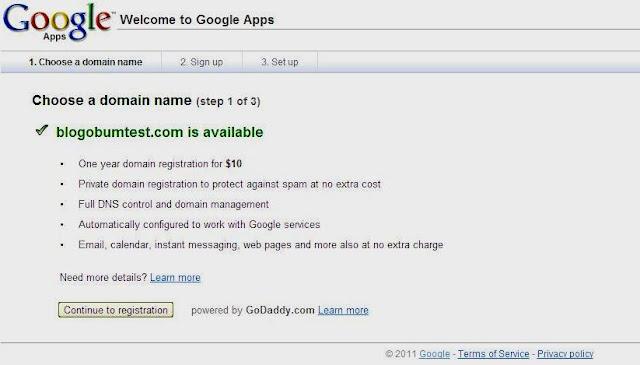 Регистрация свободного домена