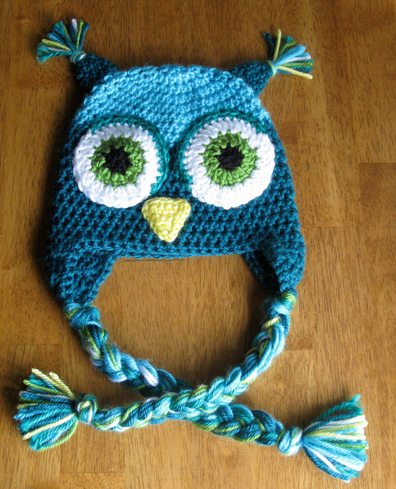 pics-n-stuff: crocheted owl hats