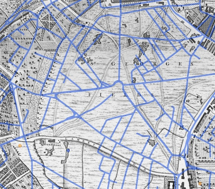 1746 GOOGLE MAP OF LONDON