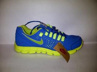 Nike Air  biru kuning,nike running,nike aerobic,nike import