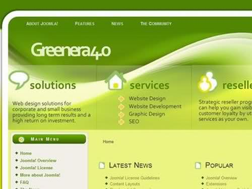 Free Joomla Agriculture Nature Green Web2.0 Template