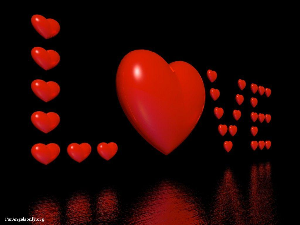 Wallpaper I Love You Heart : Wallpaper collection Romantic Love couple kissing: Wallpaper Love Heart