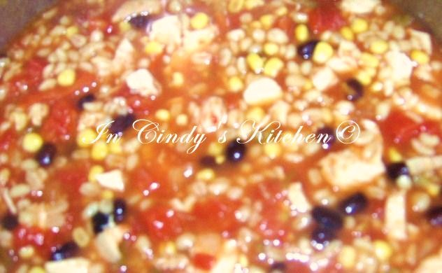 In Cindys KitchenChicken Barley ChiliChili with a Healthy Twist!
