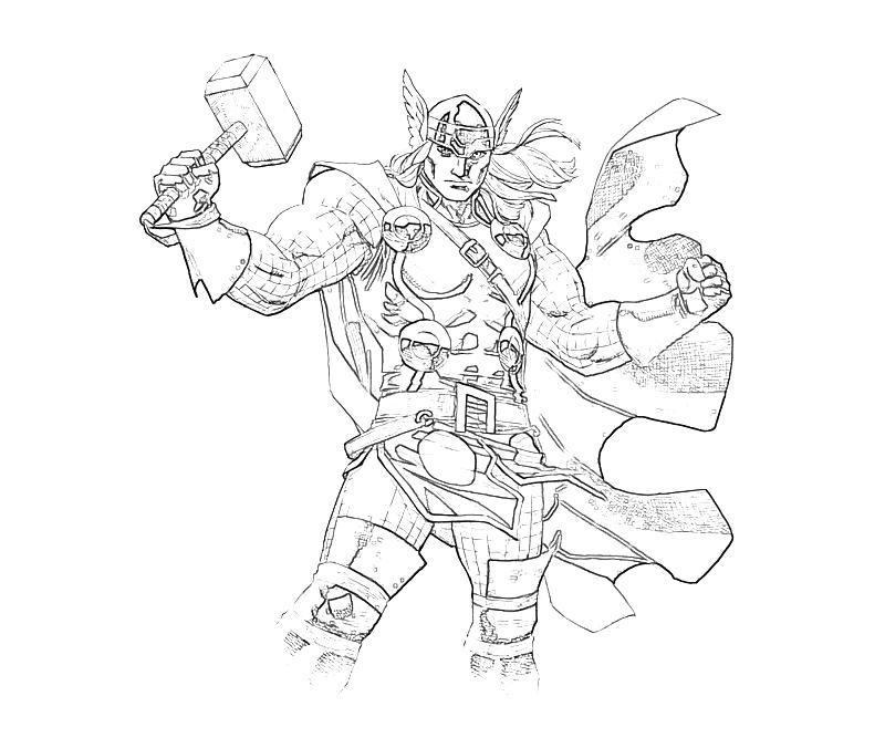 Marvel ultimate alliance 2 thor abilities mario for Marvel thor coloring pages