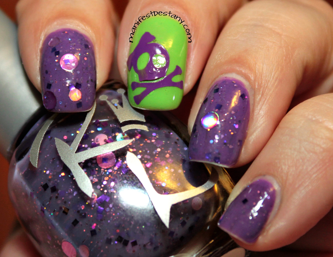 Nail Art With Royal Lacquer Lilac Sparkle Swatchesreview