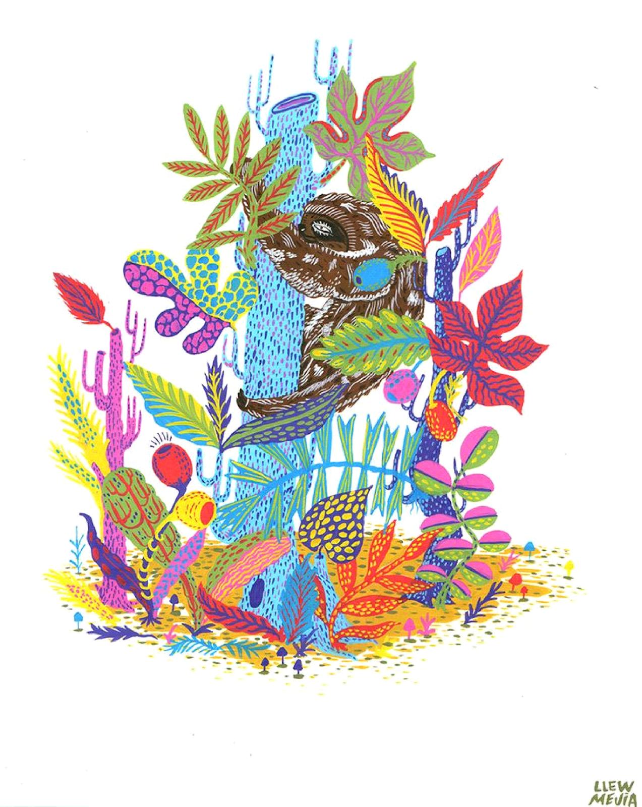Ma Bicyclette: Inspiring Artists | Llew Mejia - sloth illustration design