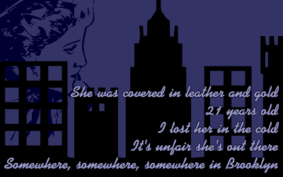 Somewhere In Brooklyn - Bruno Mars Song Lyric Quote in Text Image