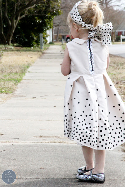 polka dot dress sewing tutorial