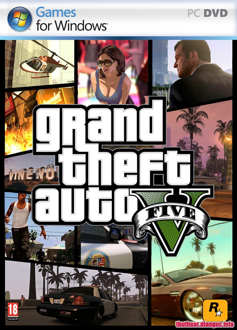 tie-smallYêu cầu cấu hình chơi game GTA 5 – System requirements Grand Theft Auto V