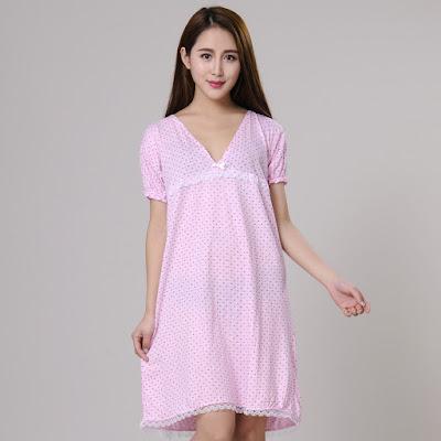Model Baju Tidur Terusan Bahan Katun Cantik