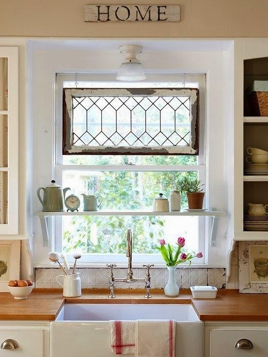 creative kitchen window ideas sink under the window kitchen shelves & Functional kitchen window ideas 2017 Pezcame.Com