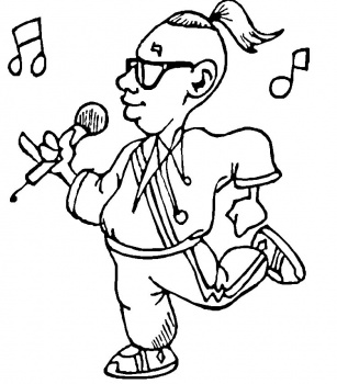 Coloring Pages for Kids Singing Coloring Pages