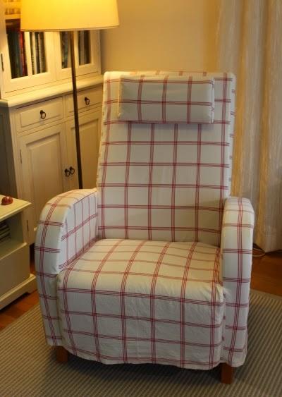 Virkattu nojatuolin päällinen