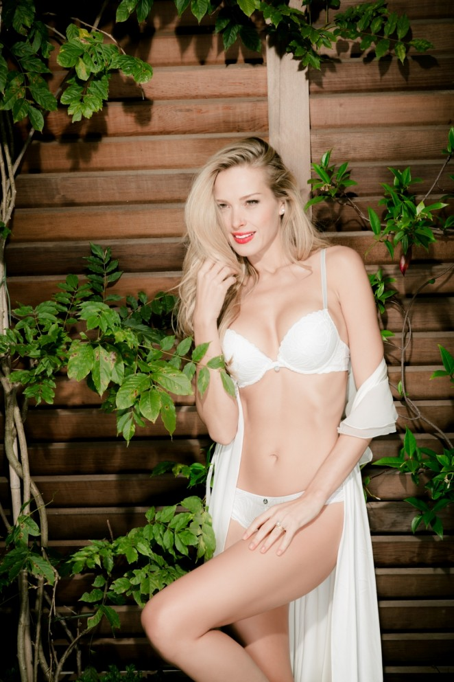 Petra Nemcova gets seductive for the Ultimo Lingerie Spring/Summer 2015 Campaign