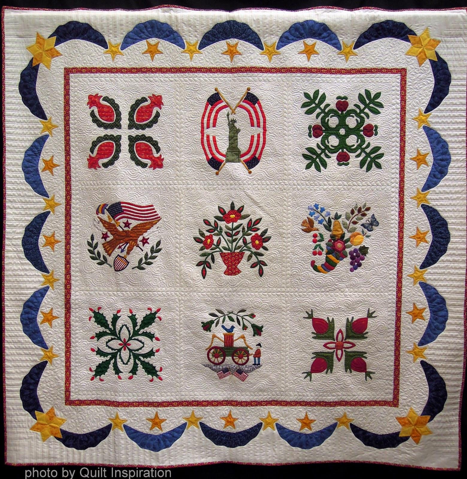 Quilt Inspiration: Baltimore Album Quilt of Remembrance : baltimore christmas quilt pattern - Adamdwight.com