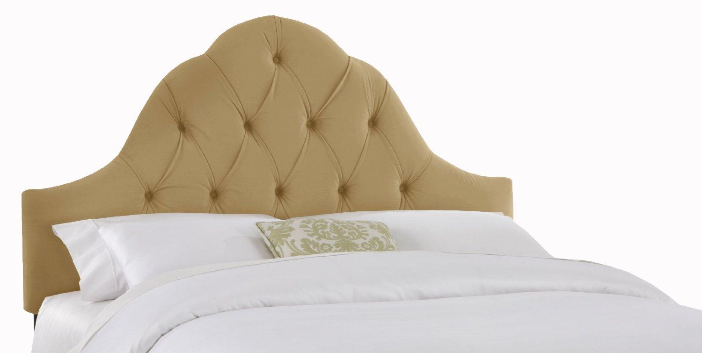 Hollywood Regency Style Bedroom Furniture: Tufted Headboard