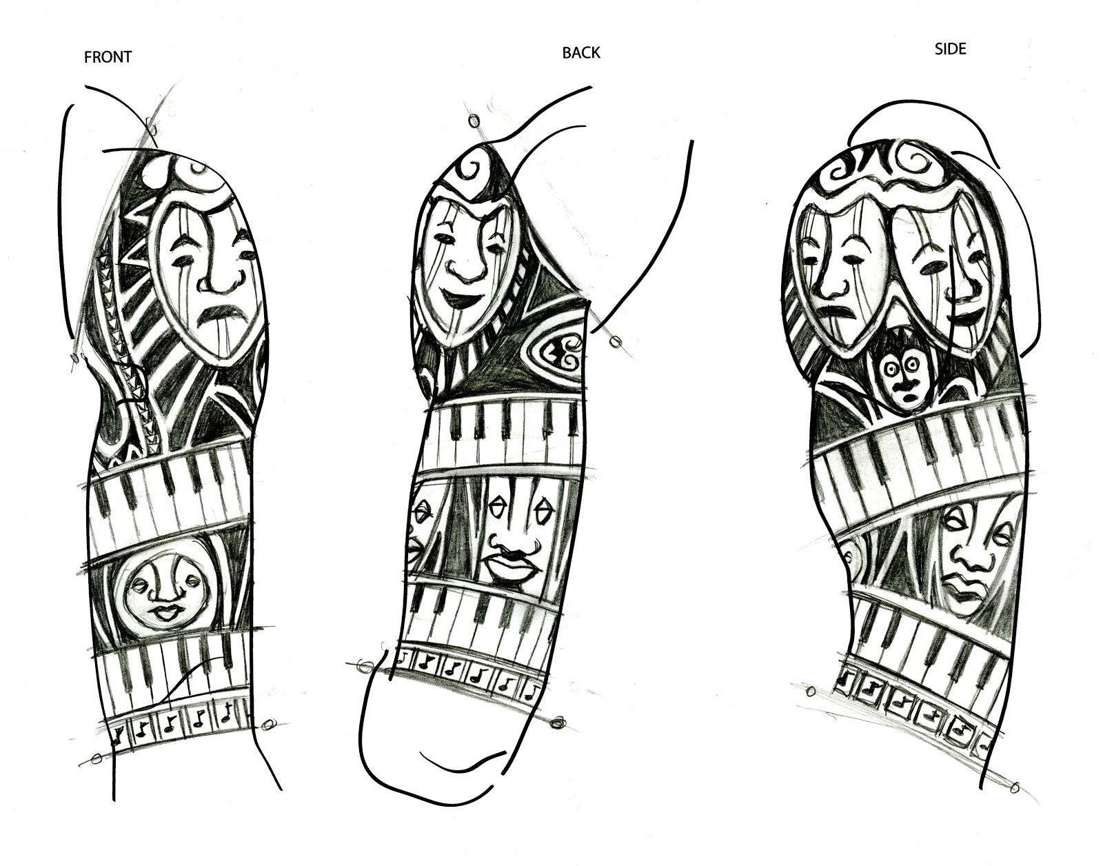 African Tribal Mask Tattoos Images For Tatouage