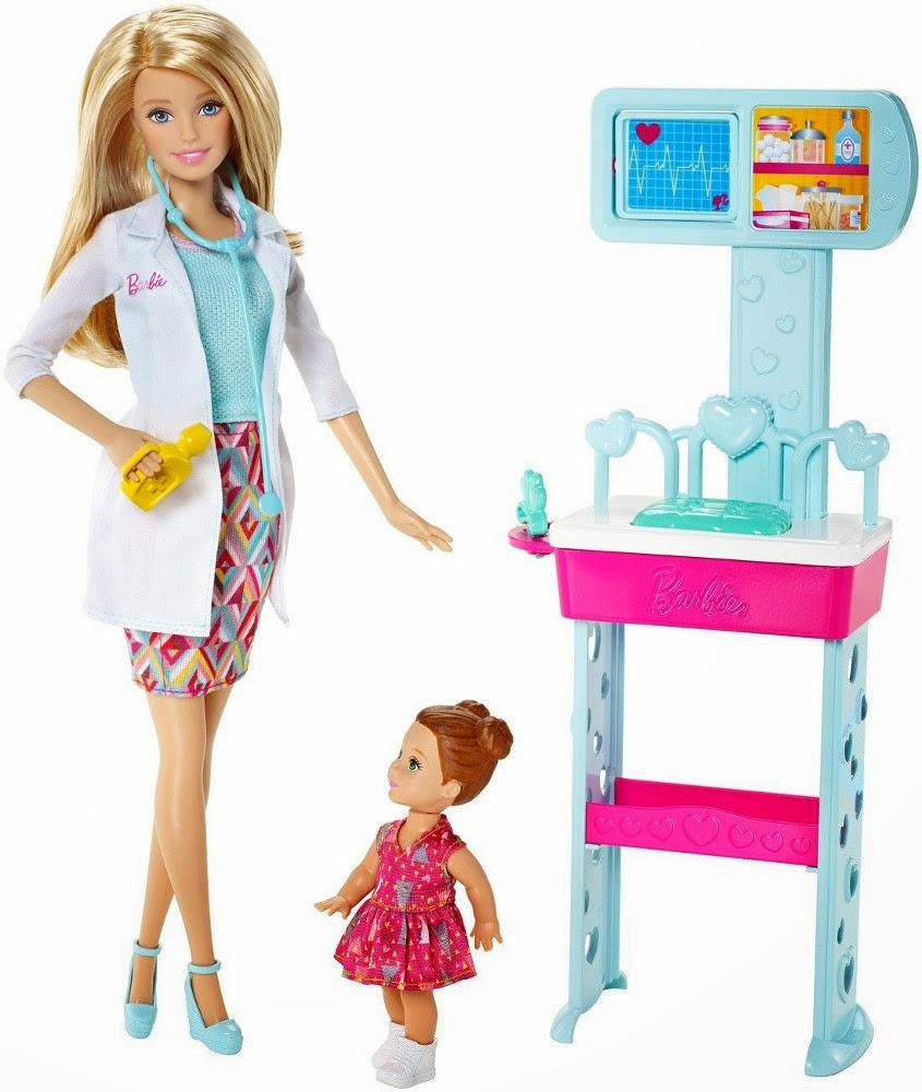 JUGUETES - BARBIE : Profesiones  Quiero Ser doctora | Muñeca + Acessorios  Producto Oficial | Mattel CCP71 | A partir de 3 años