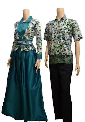 batik couple toska