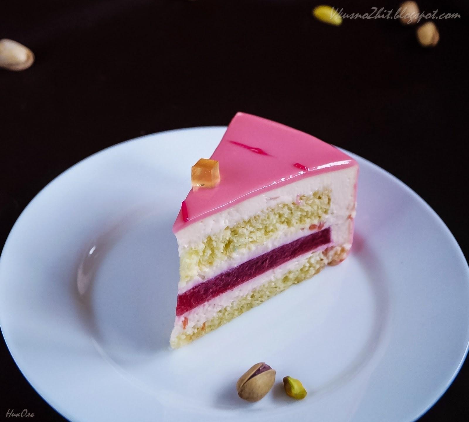 Торт мусс с малиной