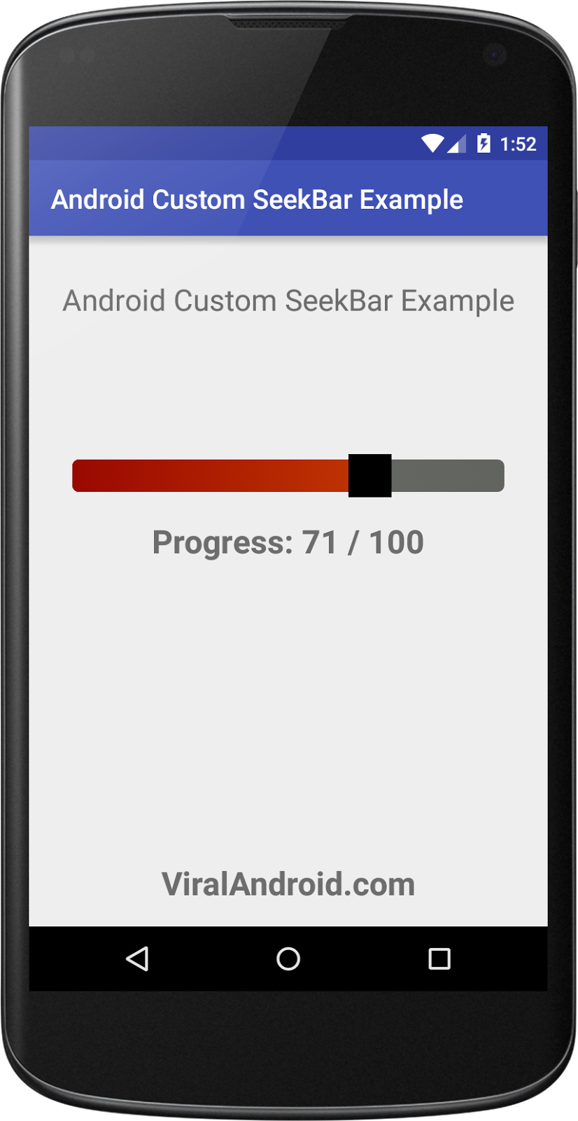 Android Custom SeekBar Example