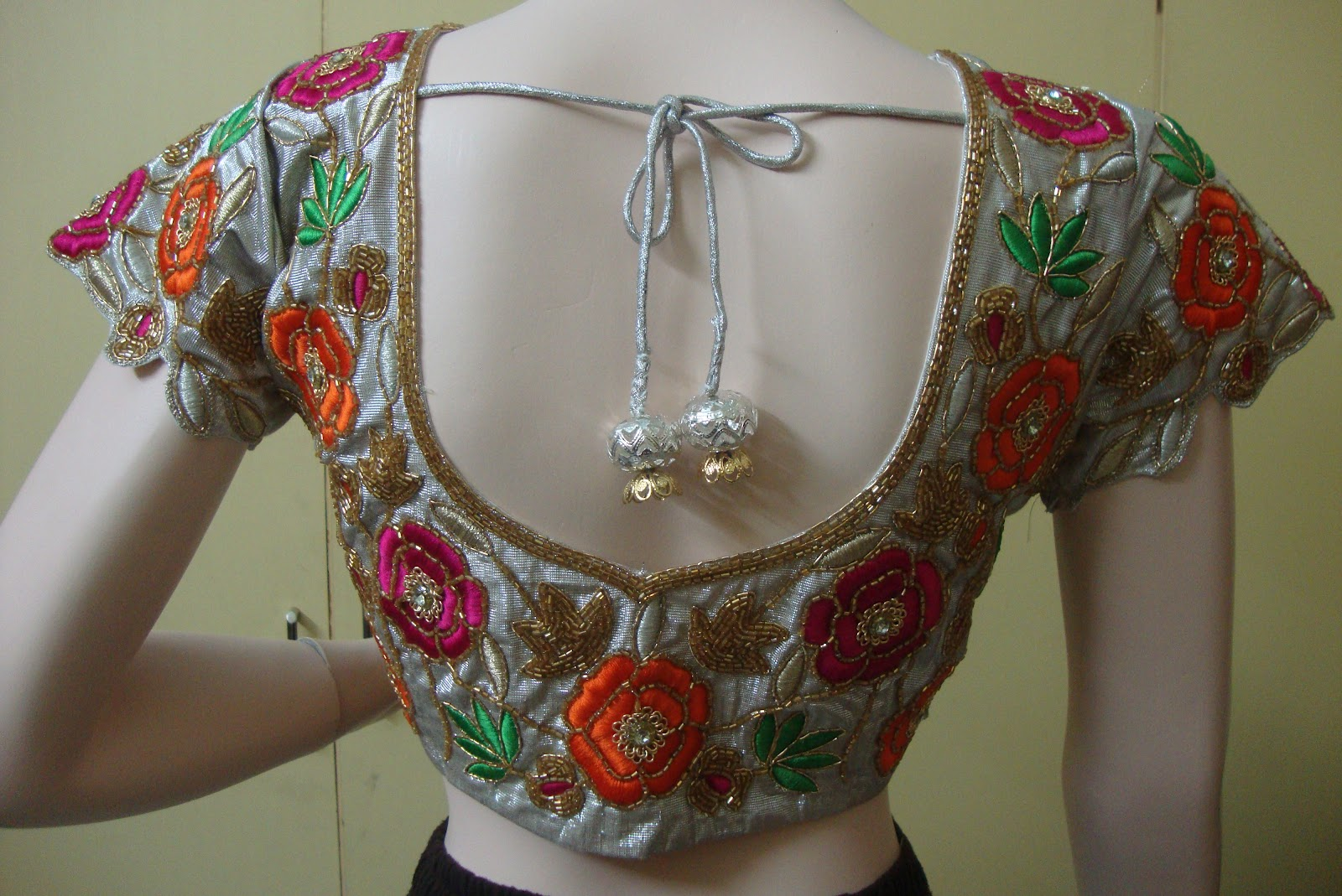 Hand Embroidery Blouse Designs