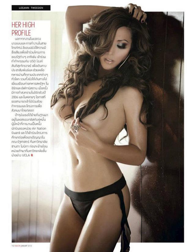 Leeann Tweeden poses for Maxim Thailand, January 2012