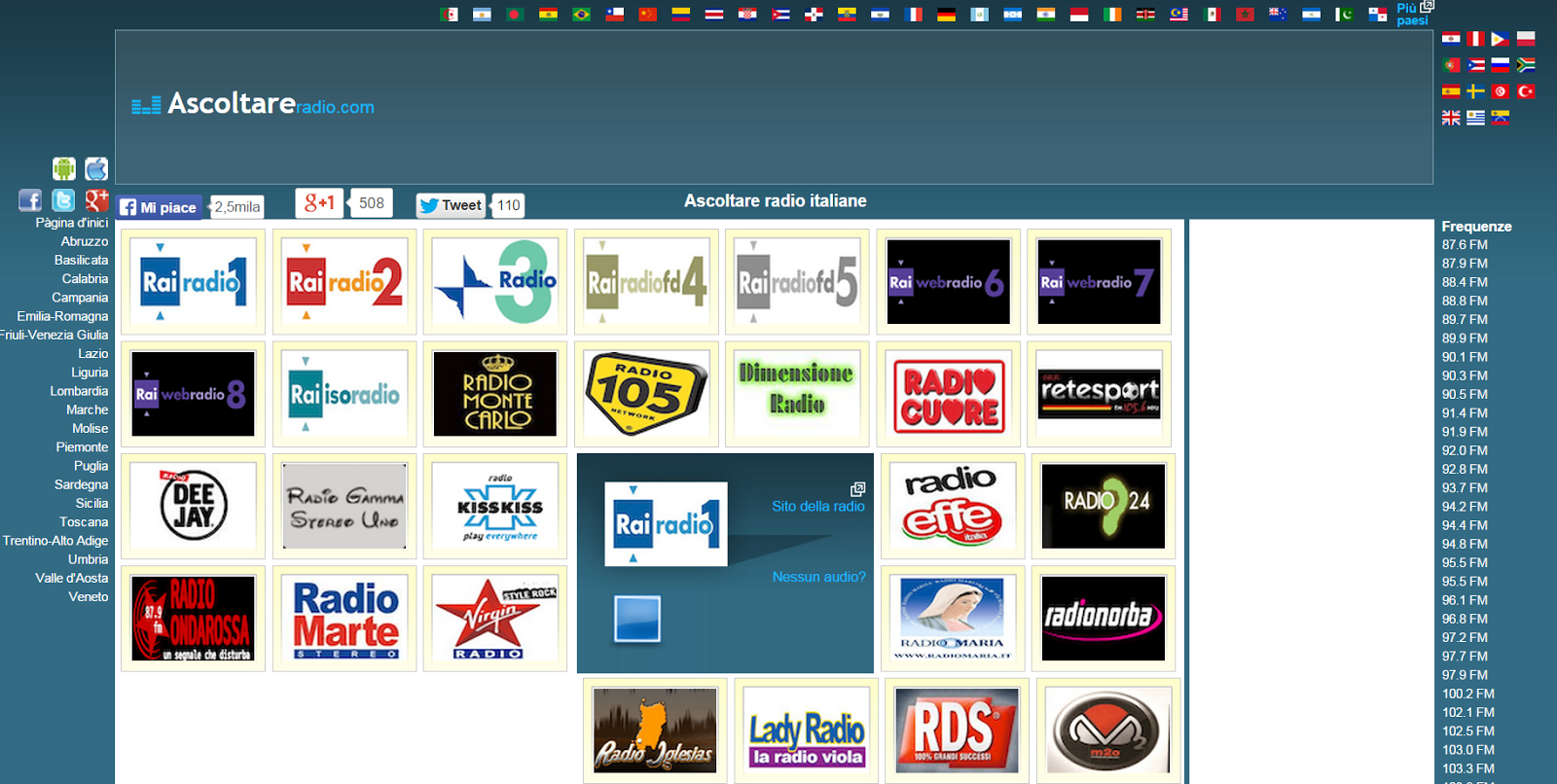 Ascoltare la radio online: tutte le web radio in una pagina