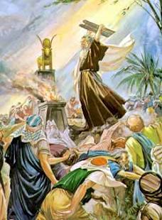 O Bezerro de Ouro e a Quebra das Tábuas da Lei por Moisés