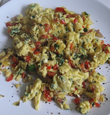 scrambled eggs with cottage cheese