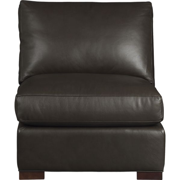 Beau Crate And Barrel Axis Leather Armless Chair
