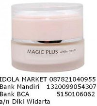 MAGIC PLUS WHITE CREAM, Rp.225rb