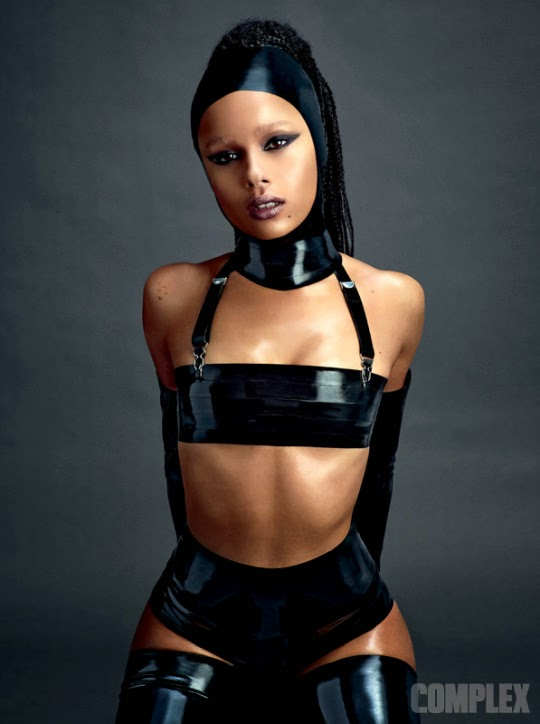 Zoe Kravitz x Complex Magazine April May 2015 Cover braids latex