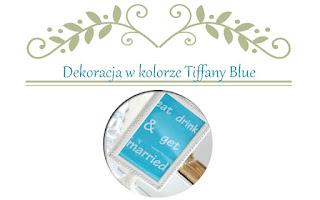 wesele w kolorze Tiffany Blue