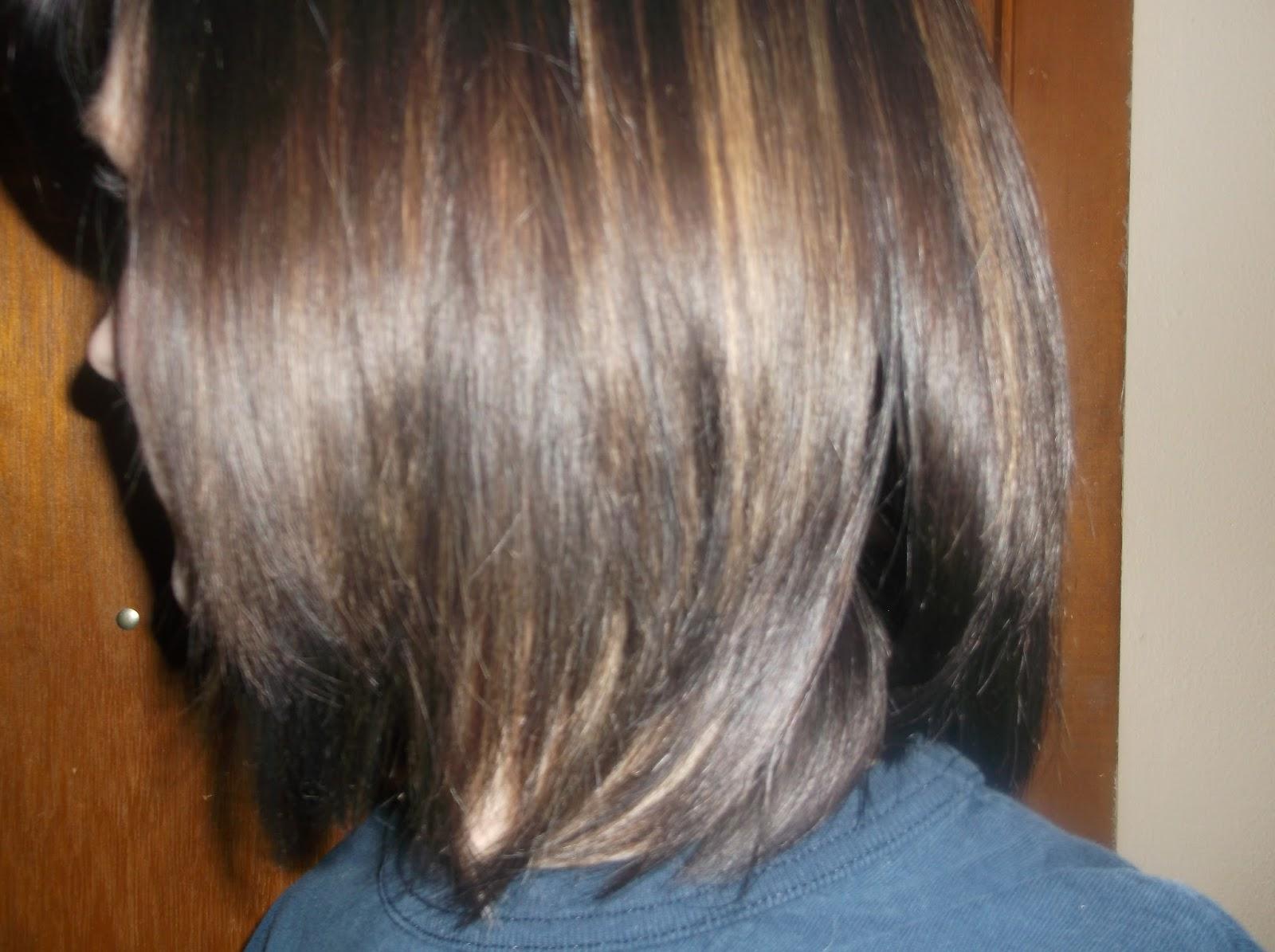 Brown Hair With Blonde Peekaboo Highlights Peek-a-boo highlights.