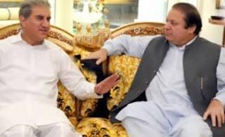 nawaz sharif with qureshi