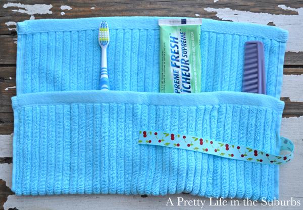 Washcloth Toiletry Travel Wrap