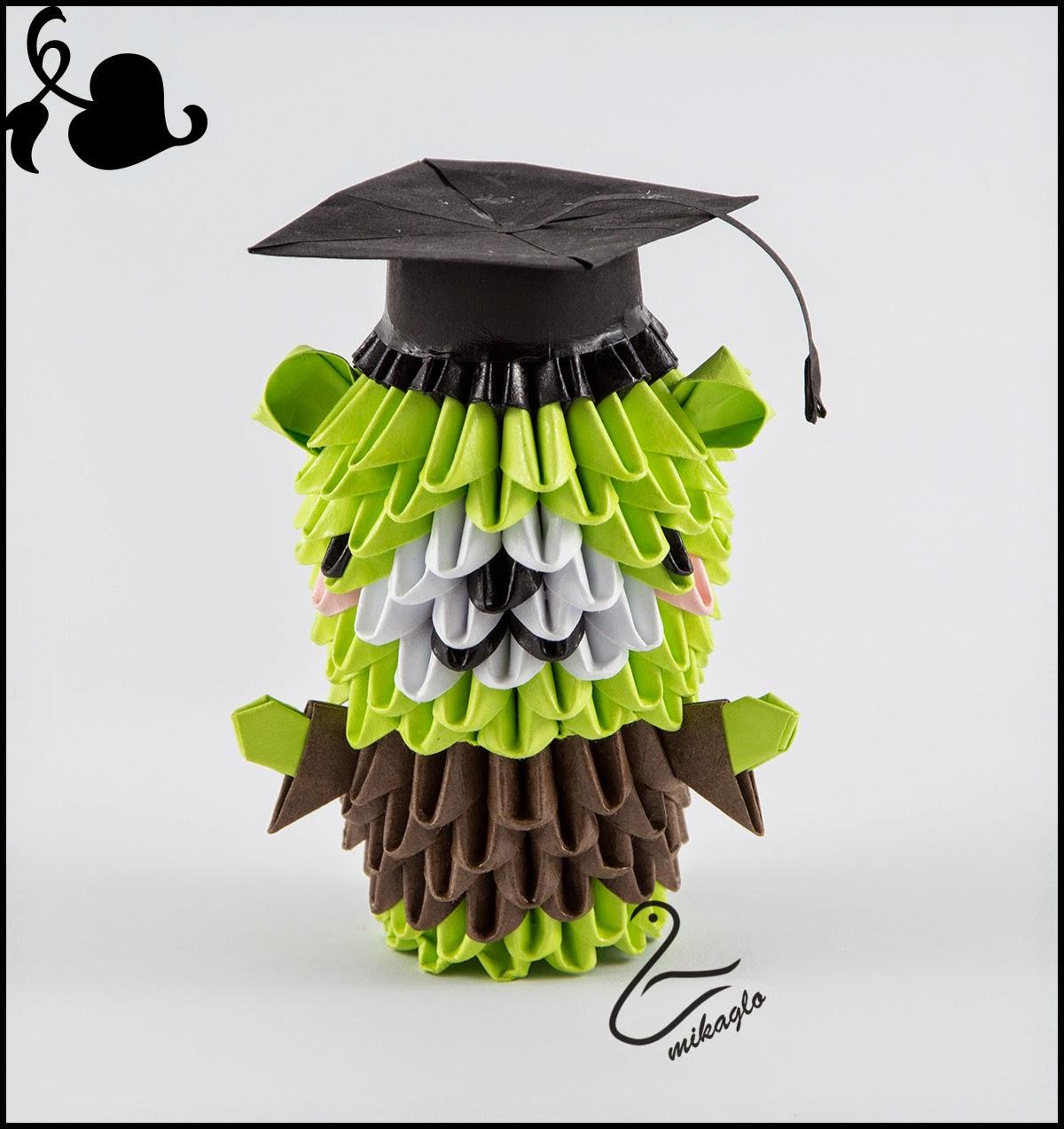 Miś Student Origami 3d