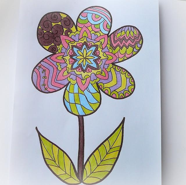 kolorowanka kwiatek