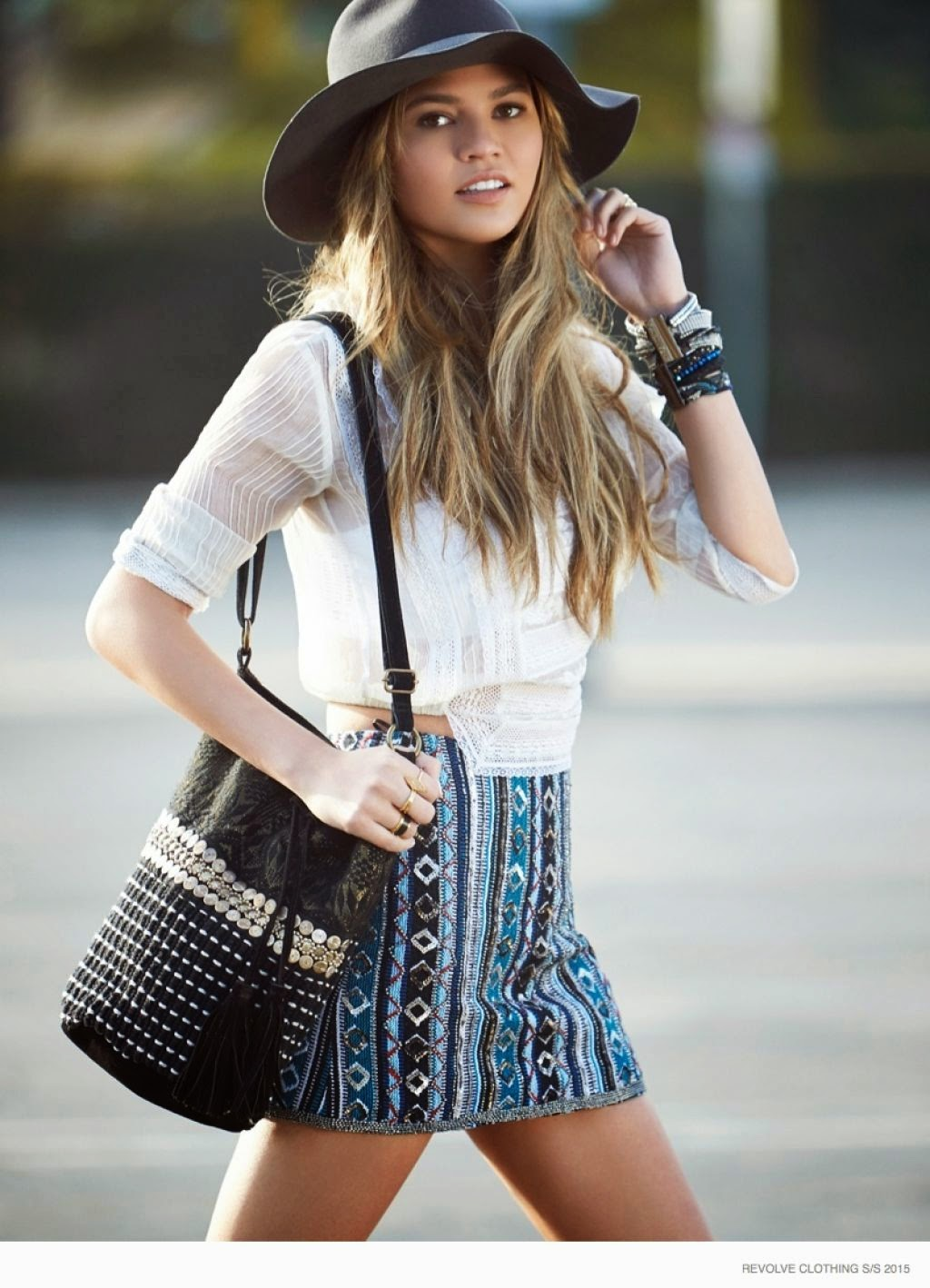 Chrissy Teigen poses for the Revolve Spring/Summer 2015 Lookbook