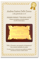 "ASDD primer premio ""Virginia Satir"""