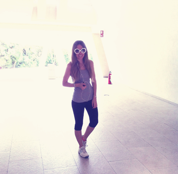 Outfit for the gym at fashion blog by Mónica Sors in Mexico