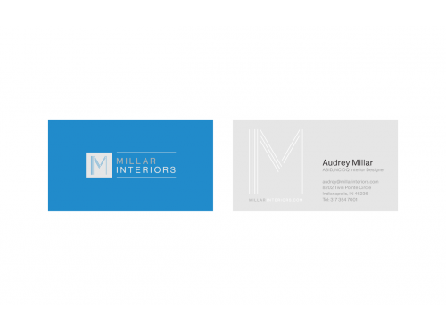 Elegant Modern Logo Interior Design Firm Logo Business Card Design