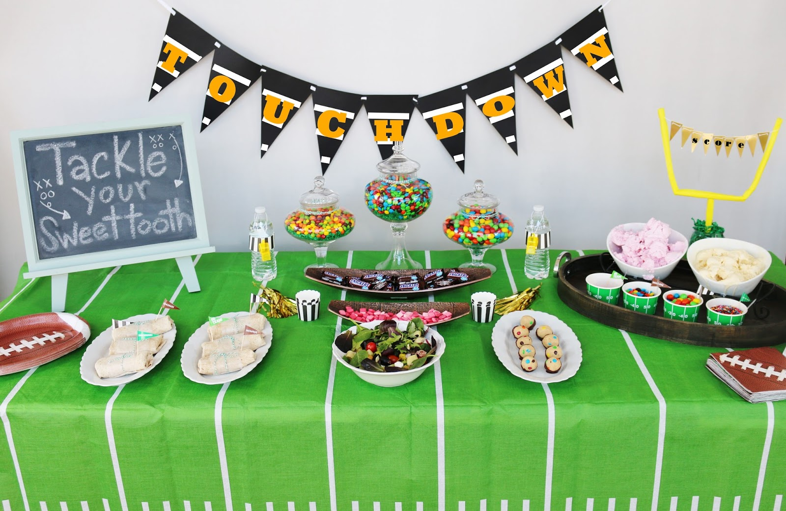 Super Bowl Party Ideas my simple modest chic: truffles & super bowl party ideas