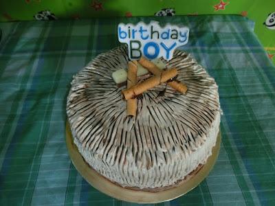 Muddy chocolate birthday cake .... when  lil' Amin turns one ....