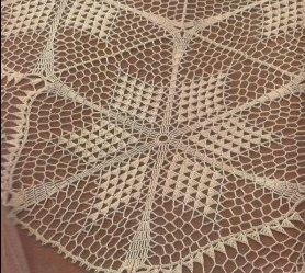 Tapete con motivos de Estrellas a Crochet