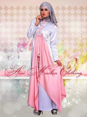 model baju muslim pesta bahan sifon