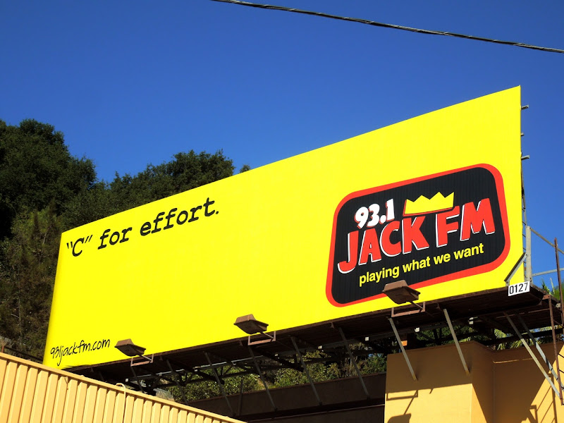 Jack FM C for Effort radio billboard