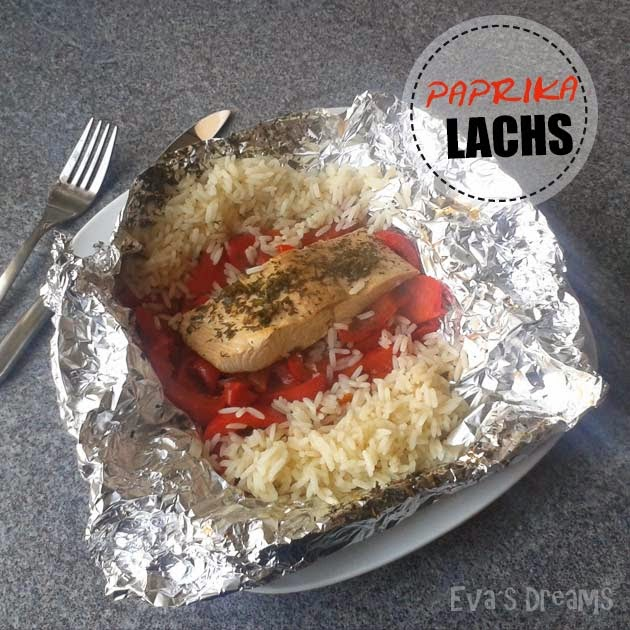 Rezept: Paprika-Lachs in Alufolie