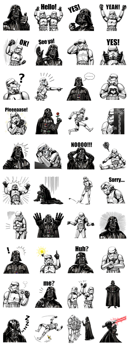 Star Wars Imperial Sticker Collection